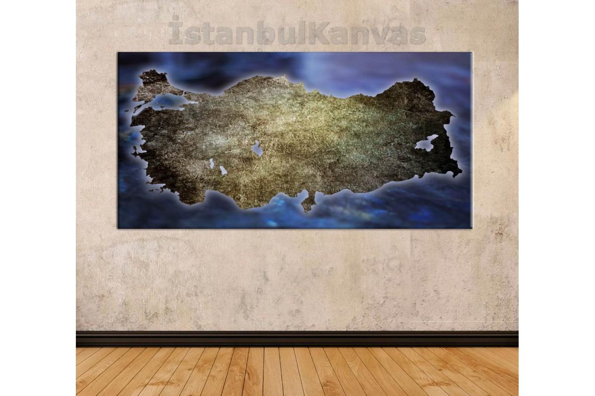srth2b - TÜRKİYE HARİTASI ÖZEL TASARIM KANVAS TABLO