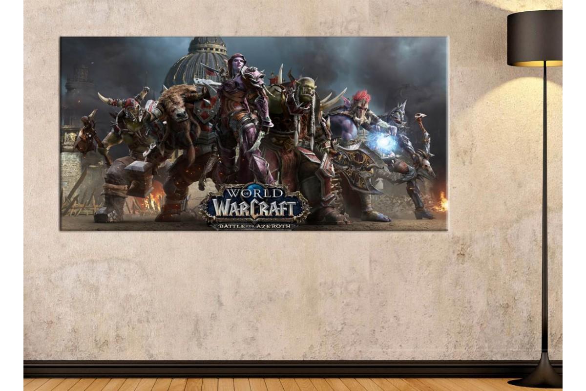 srwh2 - World of Warcraft Battle For Azeroth Karakterleri kanvas tablo