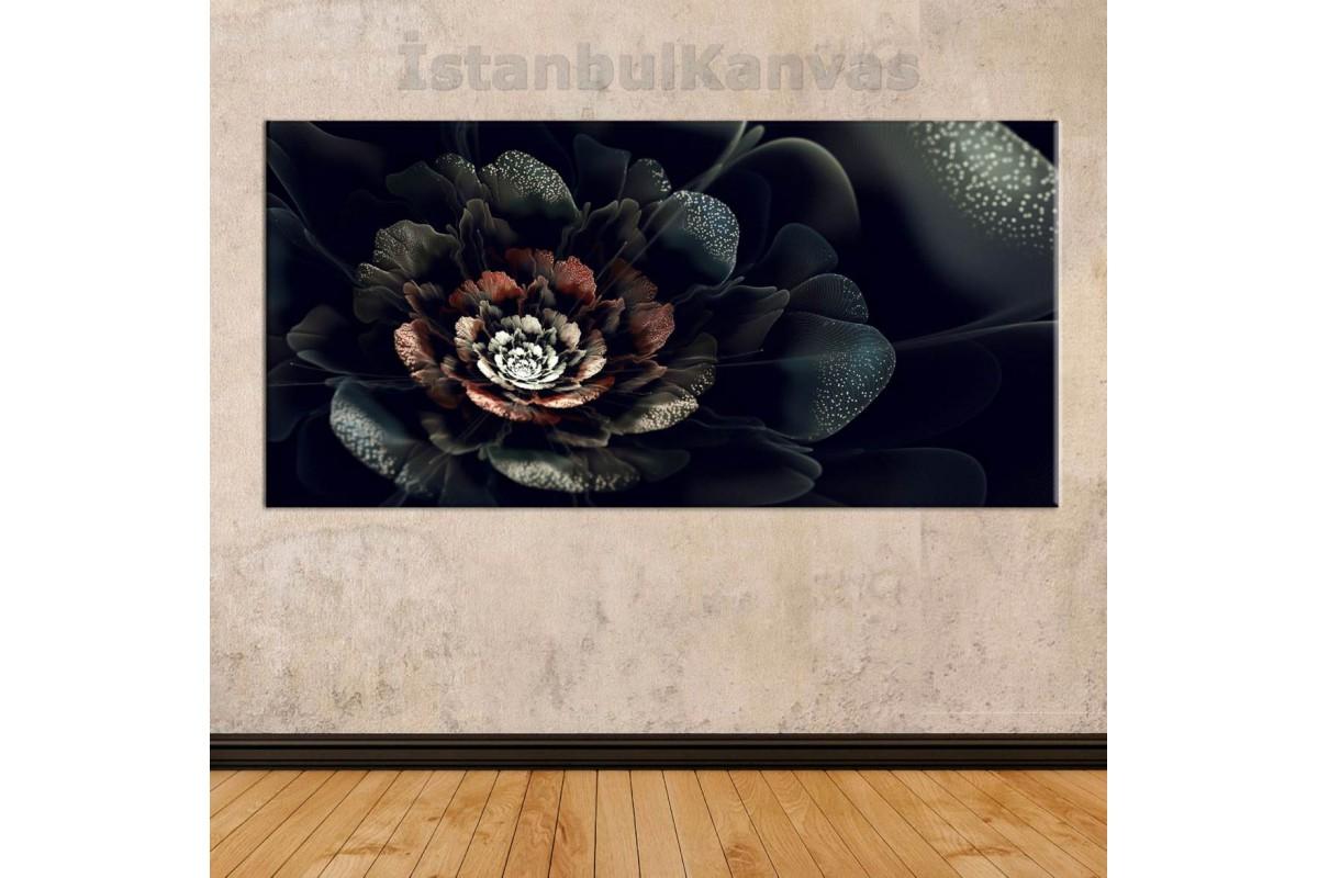 sye29 - Soyut Siyah Gül Dekoratif Kanvas Tablo
