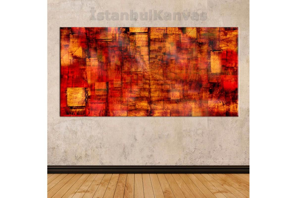 sye38 - Yağlı Boya Görünümlü Dekoratif Soyut Kanvas Tablo