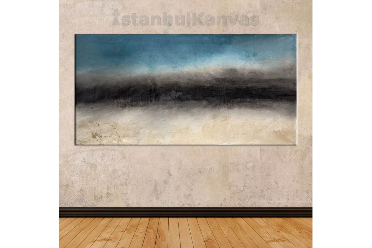 sye40 - Yağlı Boya Görünümlü Dekoratif Soyut Kanvas Tablo
