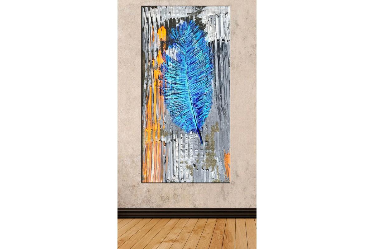 sye67 - Yağlı Boya Görünümlü Dekoratif Soyut Kanvas Tablo