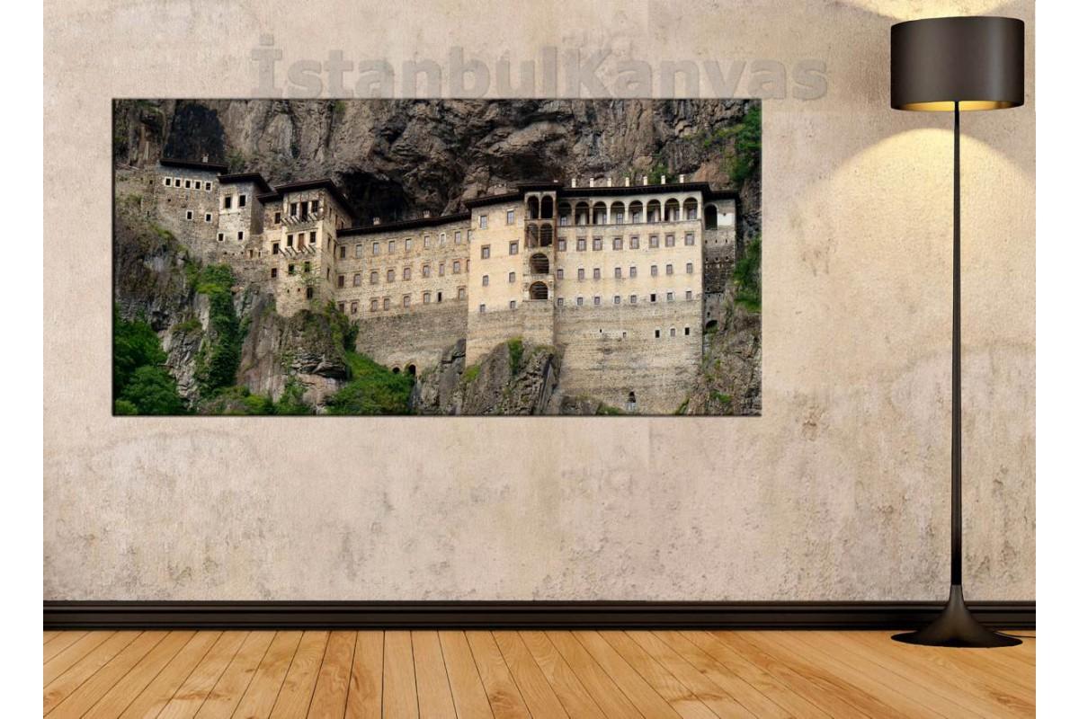 sye8 - Trabzon Sümela Manastırı Manzaralı Kanvas Tablo
