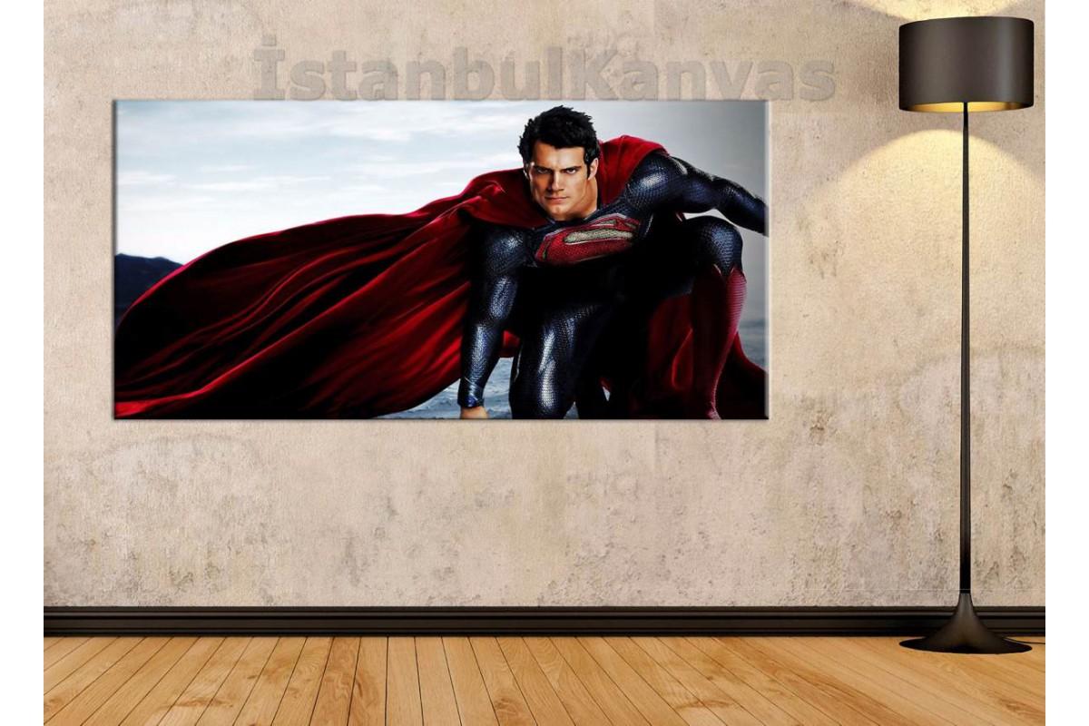 wsh17b - Superman, Henry Cavill - Çizgi Roman - Süper kahraman kanvas tablo