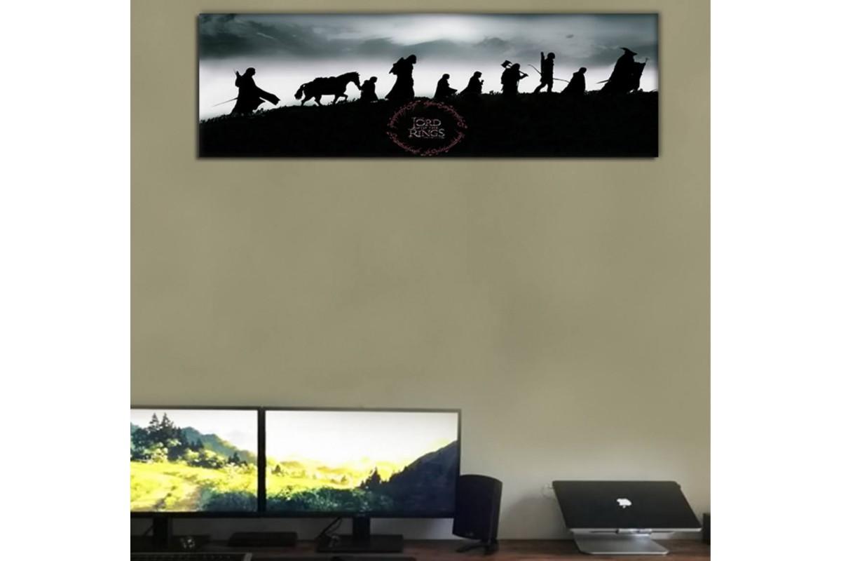 srkpan26b - Lord of the rings, Yüzüklerin efendisi, Yüzük Kardeşliği Kanvas tablo 25x80cm