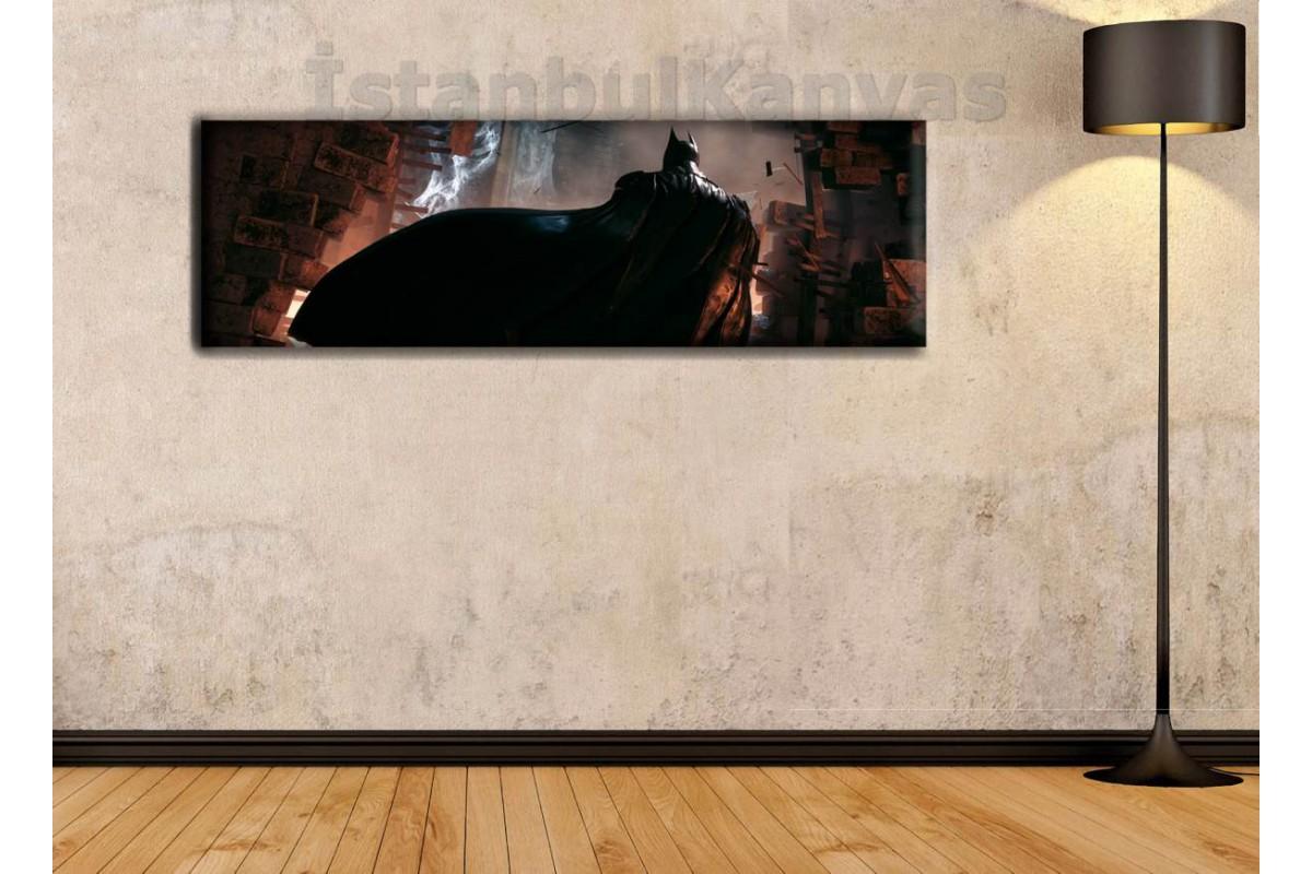 wsh1 - Batman, Kara Şövalye, Çizgi Roman - Süper kahraman kanvas tablo - 25x80cm