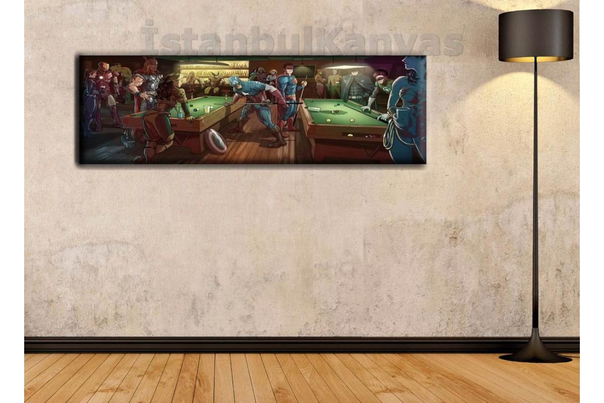 wsh13 - Marvel vs DC - Barda Olay Çıkmak Üzere - Çizgi Roman - Süper kahraman kanvas tablo - 25x80cm