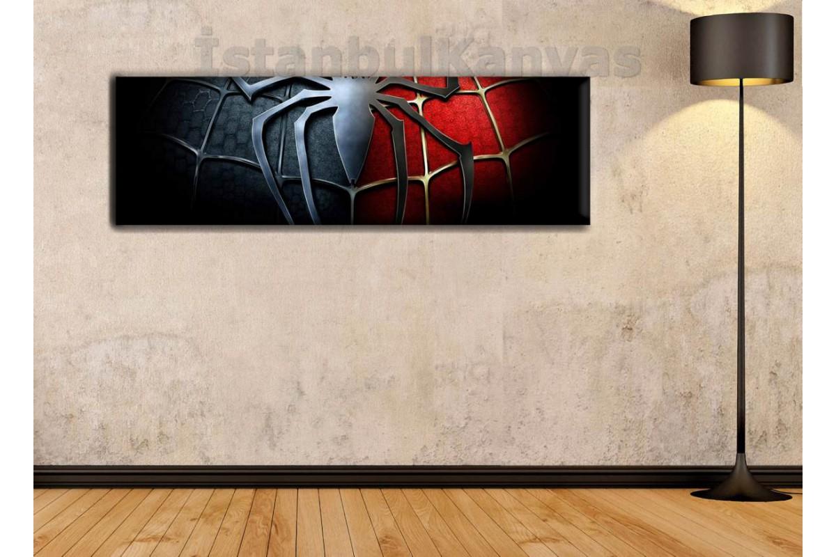 wsh15 - Örümcek Adam Logosu - Çizgi Roman - Süper kahraman kanvas tablo - 25x80cm