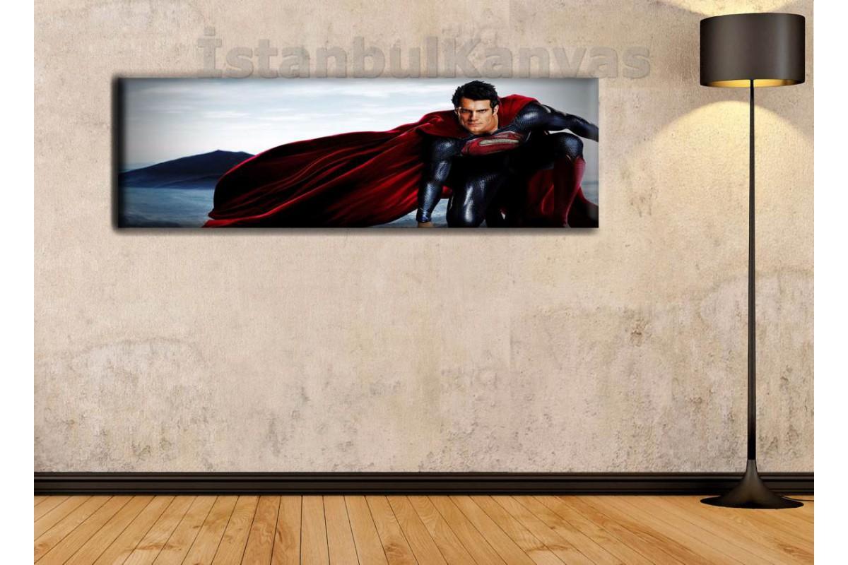 wsh17 - Superman - Süpermen - Çizgi Roman - Süper kahraman kanvas tablo - 25x80cm