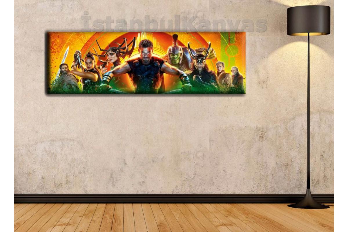 wsh18 - Thor Ragnarok - Çizgi Roman - Süper kahraman kanvas tablo - 25x80cm