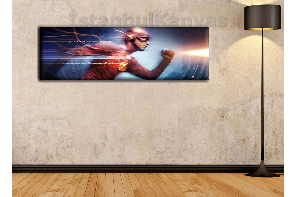 wsh20 - FLASH - Çizgi Roman - Süper kahraman kanvas tablo - 25x80cm