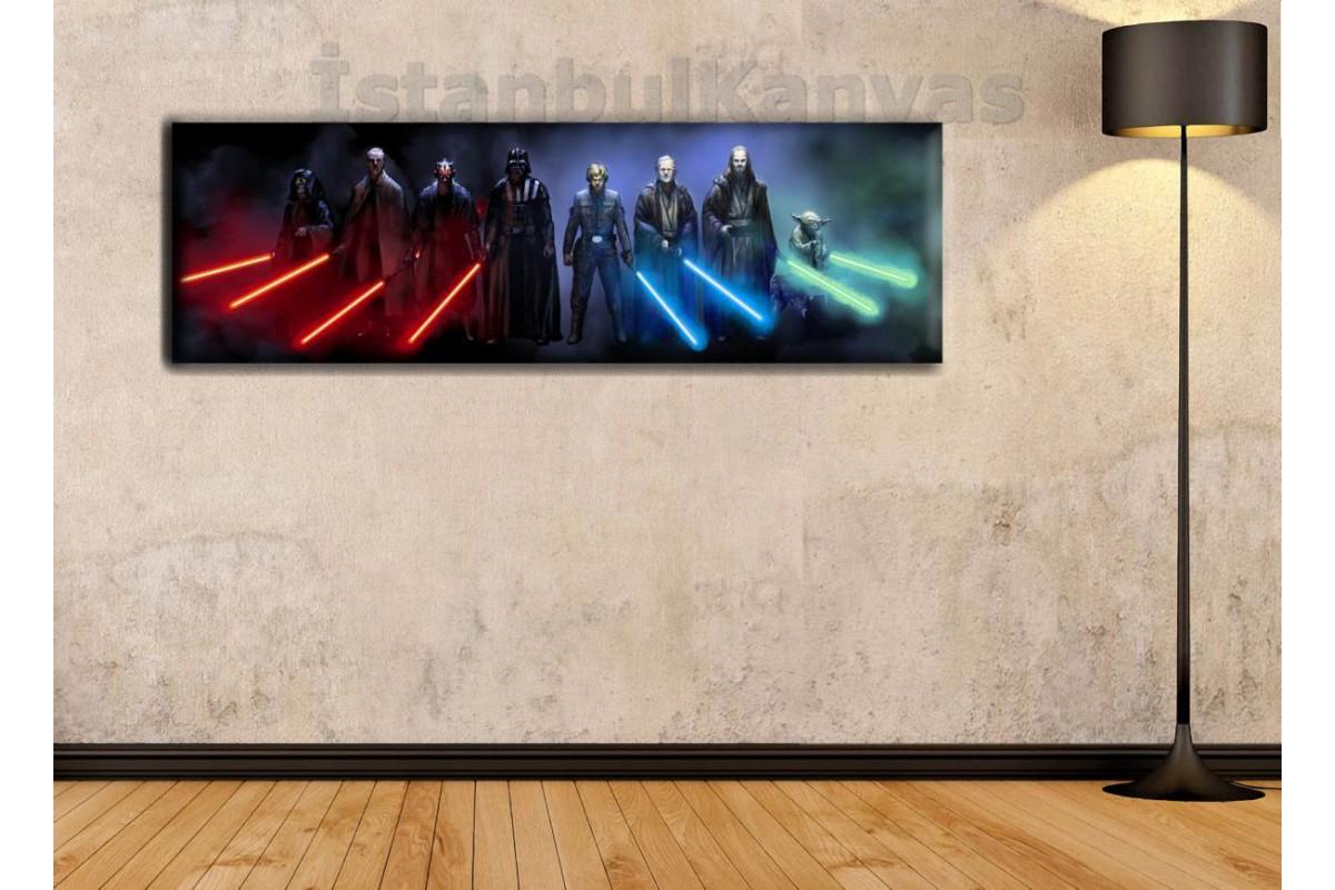 wsh24 - Star Wars (Yıldız Savaşları) Jedi ve Sith Lordları - kanvas tablo 80x25cm
