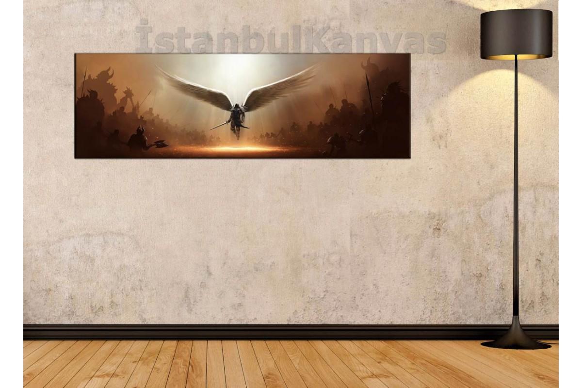 wsh26 - Tyrael - Diablo 3 - DIABLO III kanvas tablo 80x25cm