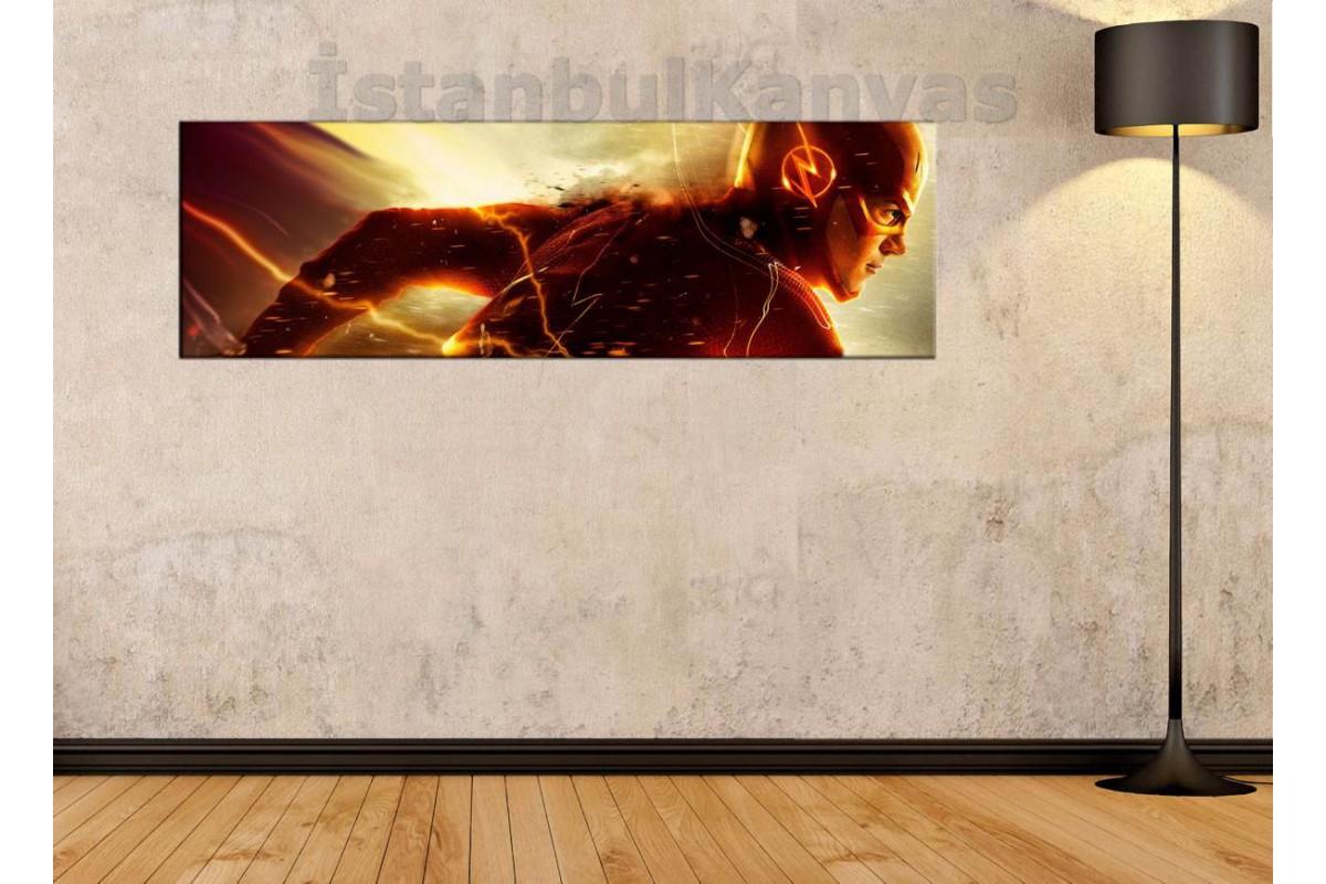 wsh29 - Flash - Barry Allen - Çizgi Roman - Süper kahraman kanvas tablo - 25x80cm - 25x80cm