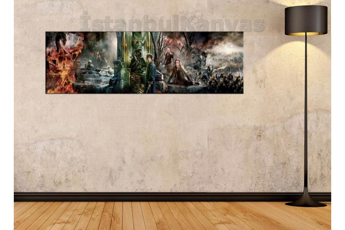 wsh30 - Hobbit 3 Film Birden - Yüzüklerin Efendisi kanvas tablo 80x25cm