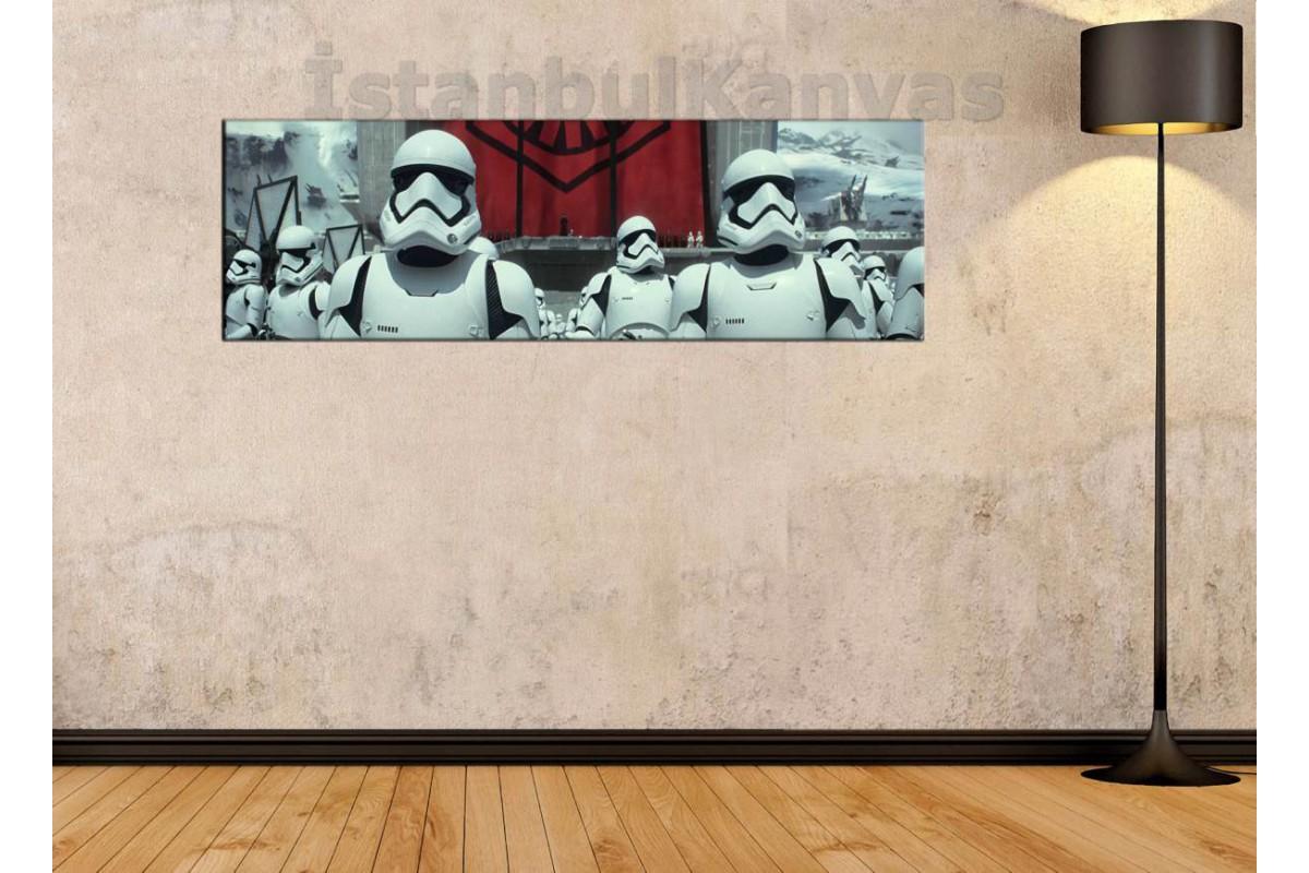 wsh32 - Star Wars (Yıldız Savaşları) Storm Troopers kanvas tablo 80x25cm