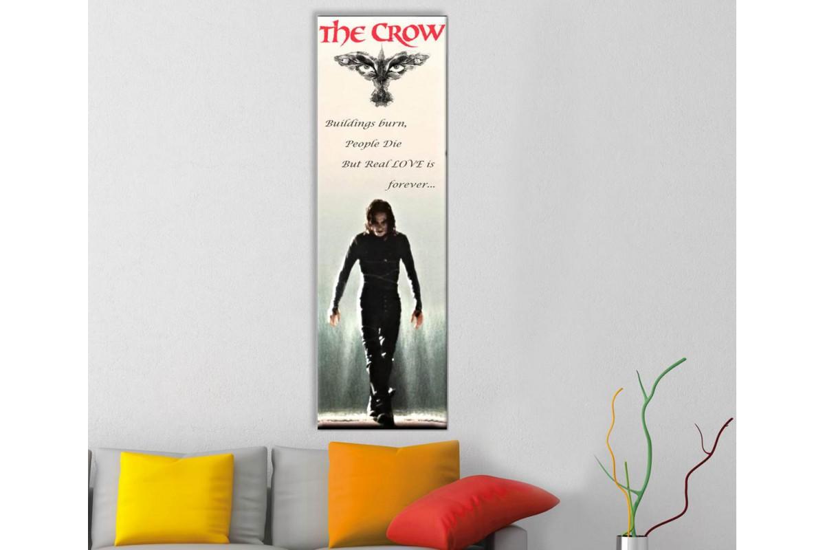 wsh34- The Crow Brandon Lee Buildings Burn, People Die but real love is forever kanvas tablo 80x25cm