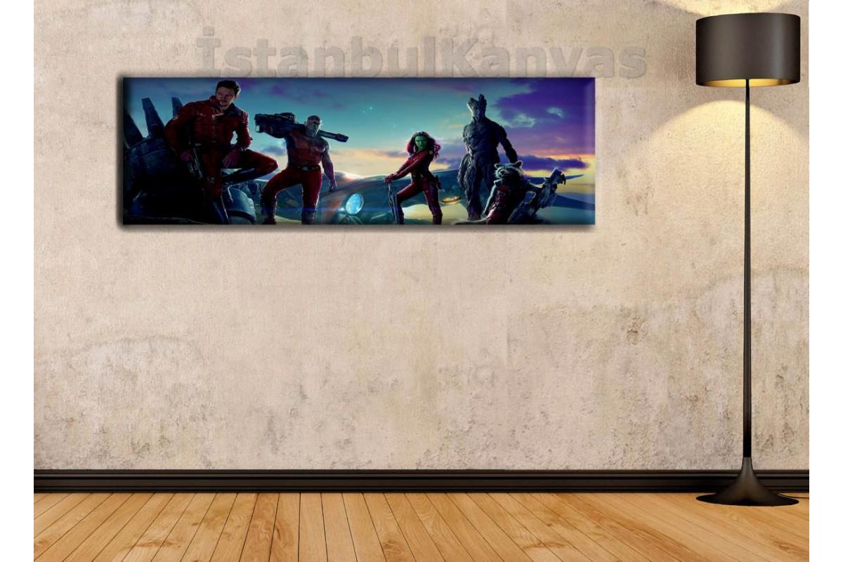 wsh5 - Galaksinin Koruyucuları, Guardians of Galaxy Çizgi Roman, Süper kahraman kanvas tablo - 25x80cm