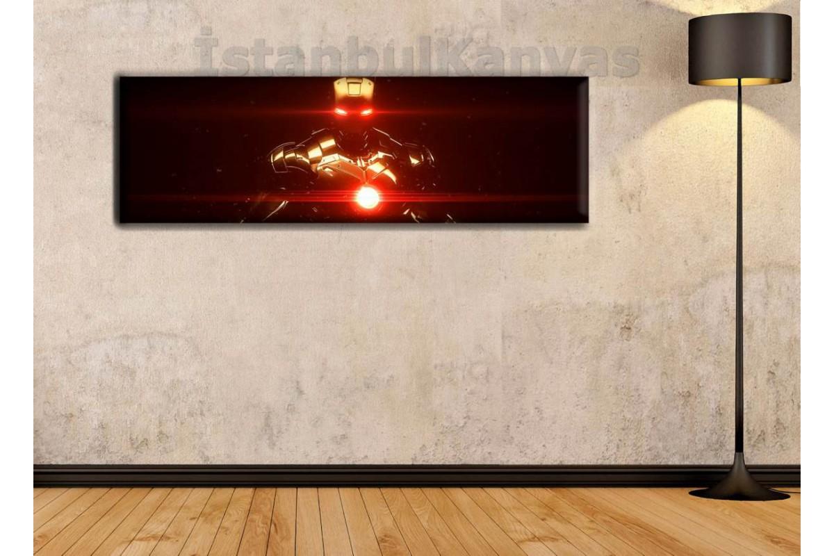 wsh7 - Ironman - Demir Adam - Çizgi Roman - Süper kahraman kanvas tablo - 25x80cm