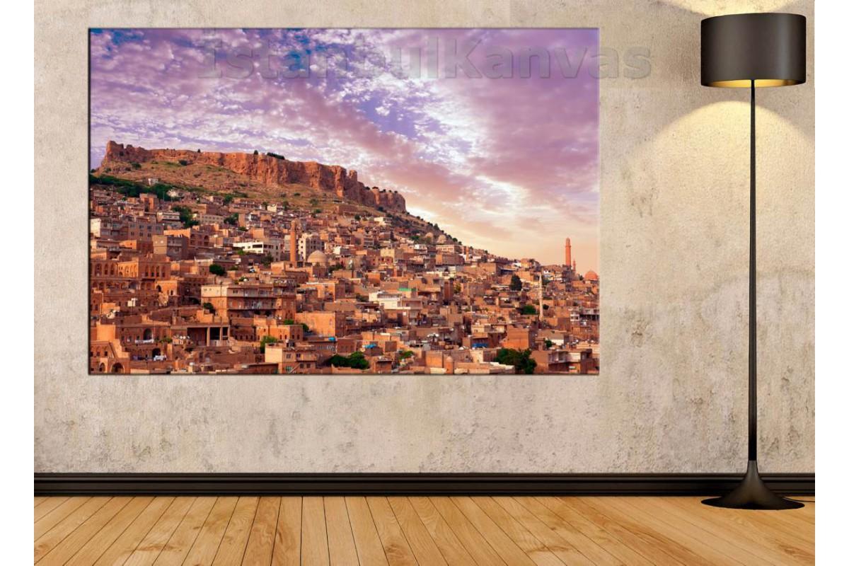 Skr47 - Mardin Manzarası Kanvas Duvar Tablosu