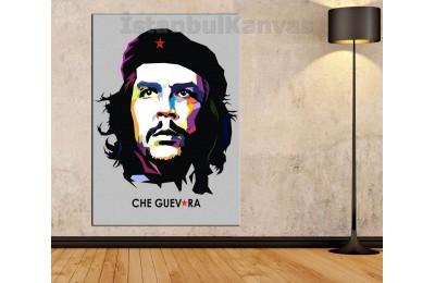 Skrc03 - Ernesto Che Guevara Soyut Kanvas Tablo