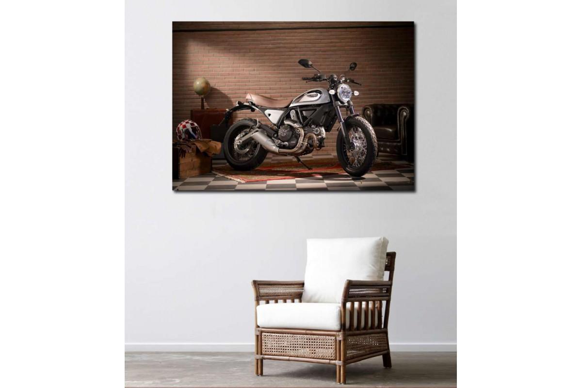 sm01 - Ducati Scrambler Legend Motosiklet kanvas tablo