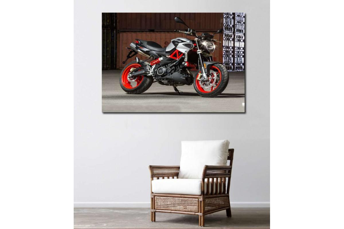sm03 - Aprilia Shiver Motosiklet Dekoratif Kanvas Tablo
