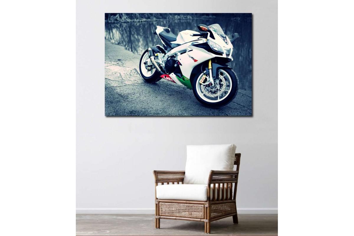 sm05 - Aprilia Racer Motosiklet Kanvas Tablo