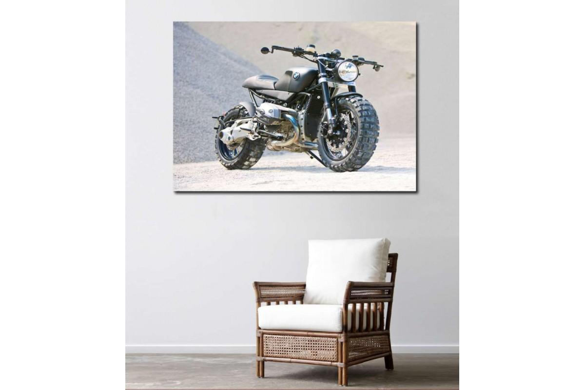 sm06 - BMW Scrambler Motosiklet Kanvas Tablo