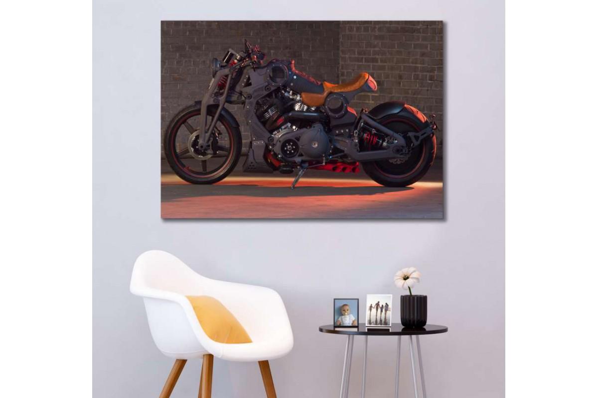 sm08 - Konsept Motosiklet Dekoratif Kanvas Duvar Tabloları