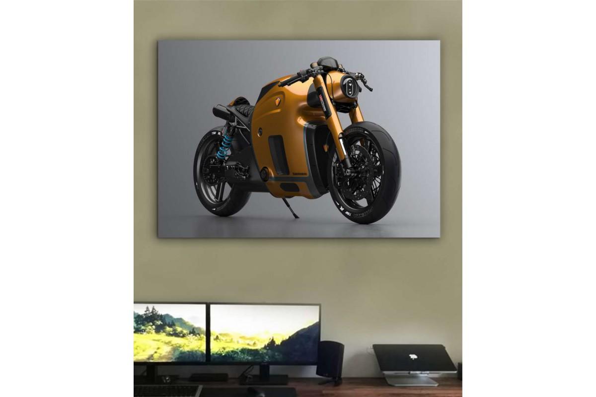 sm23 - Koenigsegg Konsept Motosiklet Kanvas Tablo