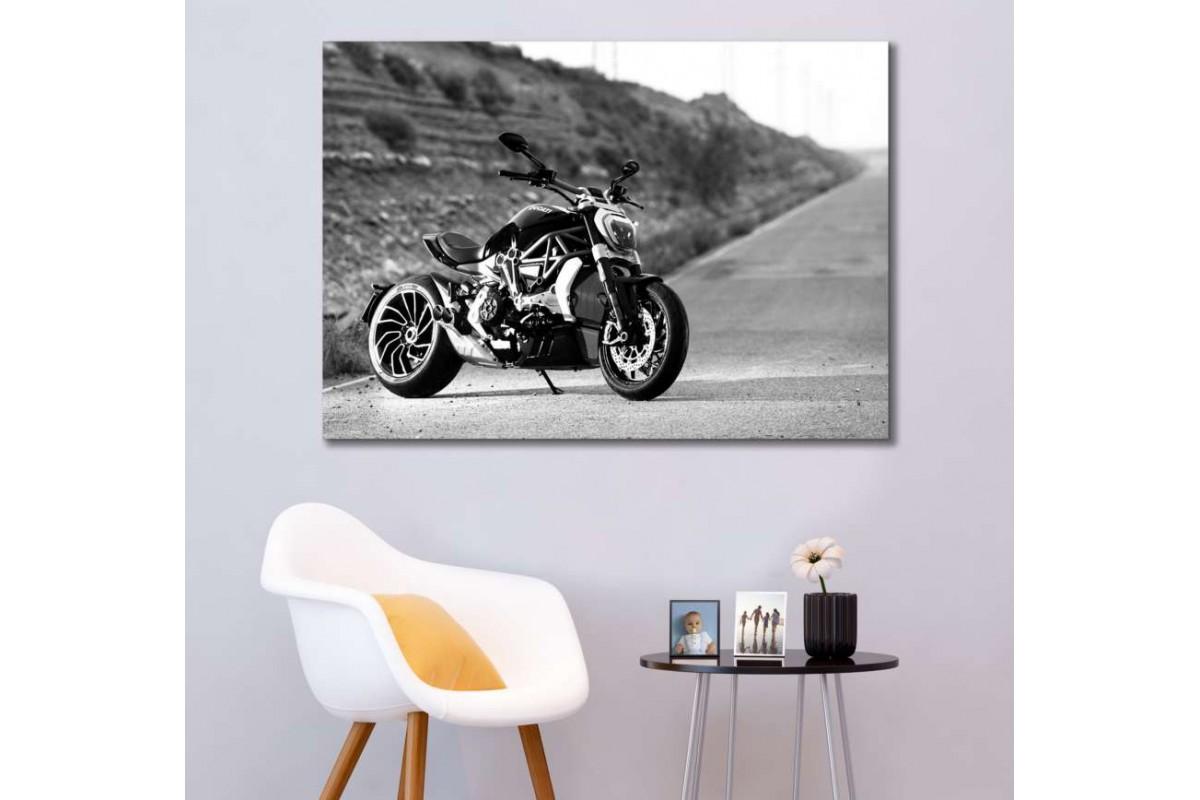 sm35 - Ducati Scrambler Motosiklet Kanvas Tablo