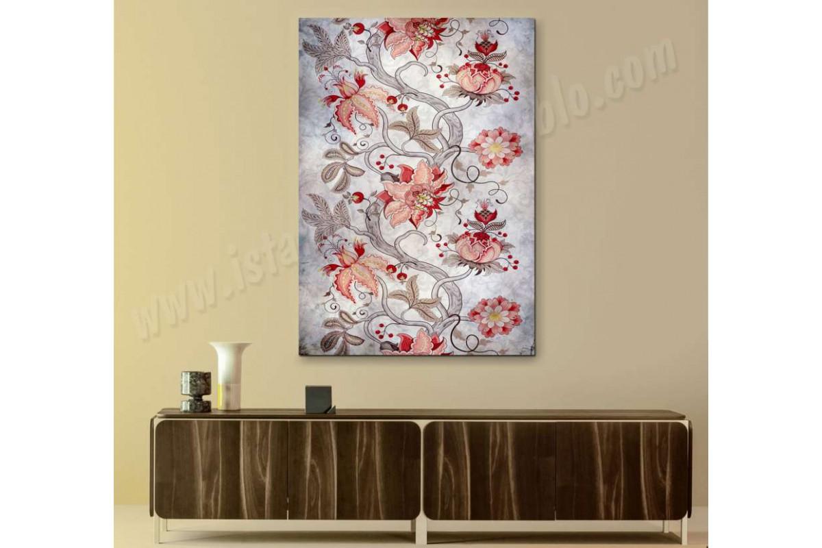 srbd1 - Dekoratif Çiçekli Kanvas Tablo