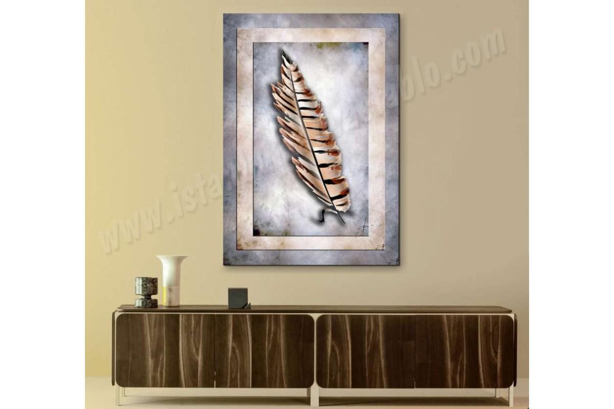 srbd2 - Dekoratif Soyut Tüy Kanvas Tablo