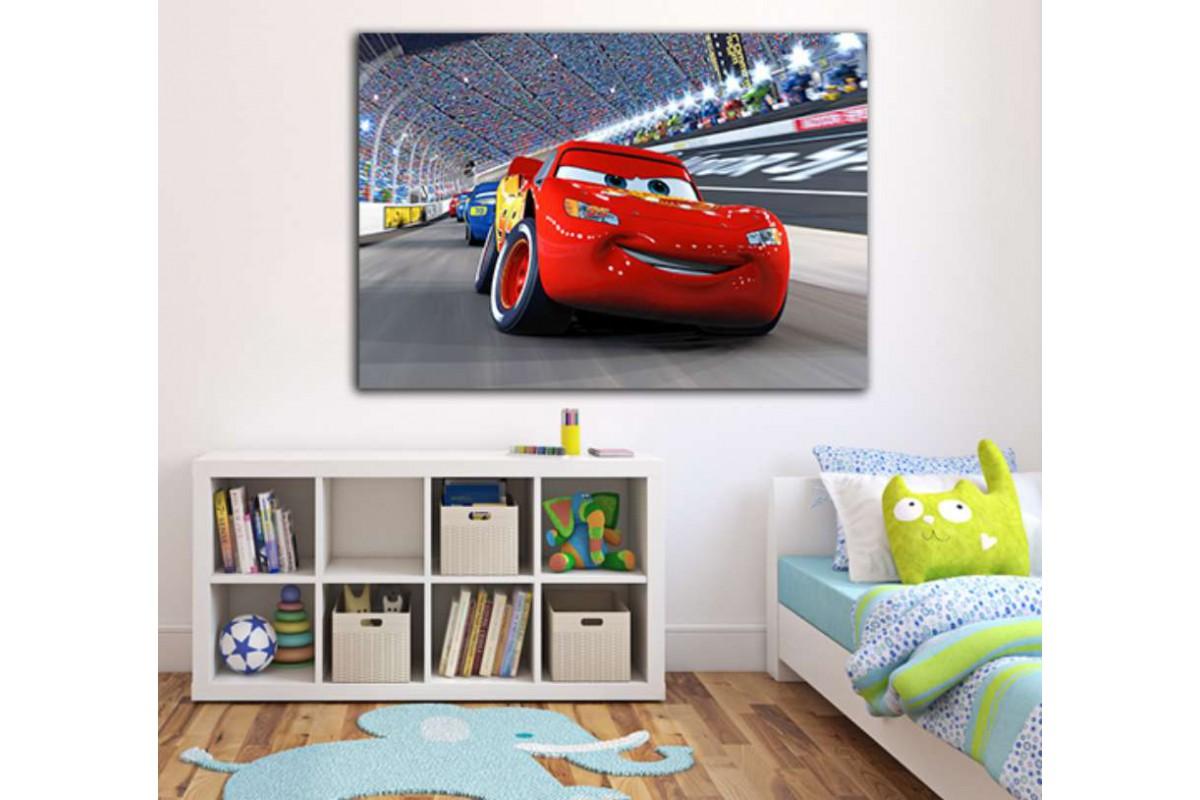 srco1 - Şimşek McQueen, Arabalar Filmi Çocuk Odası Kanvas Tablo