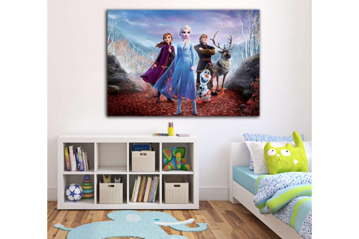 srco3 - Buzlar Kraliçesi, Frozen Filmi Çocuk Odası Kanvas Tablo