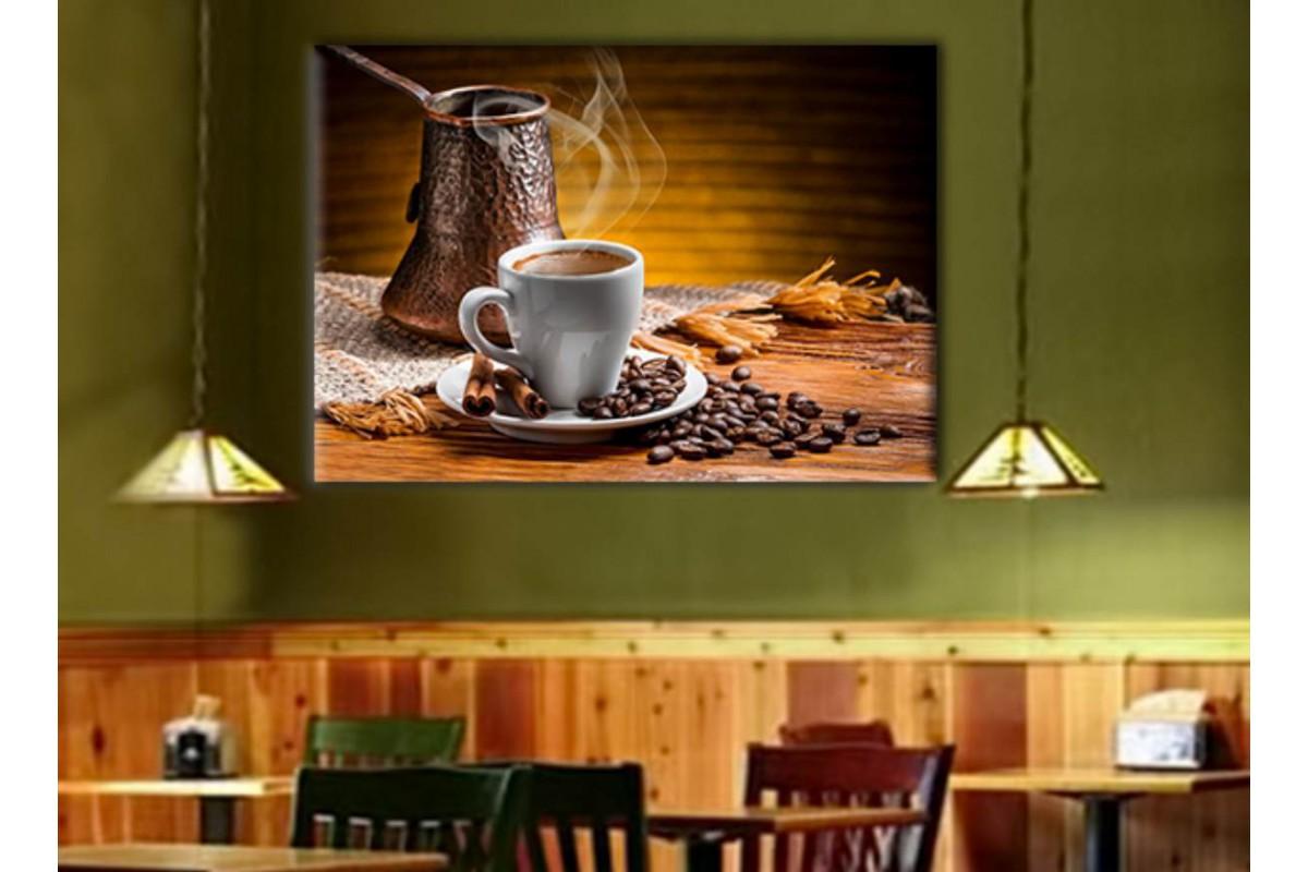srcy2 - Türk Kahvesi, Çay evi, Nargileci - Cafe - Kahvehane için Dekoratif Kanvas Tablo