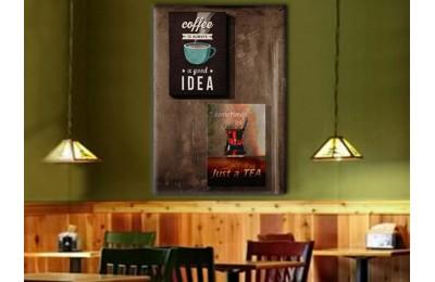 srcy3 - Kahve ve Çay, Nargileci, Cafe, Kahvehane, Kafeterya için Dekoratif Kanvas Tablo