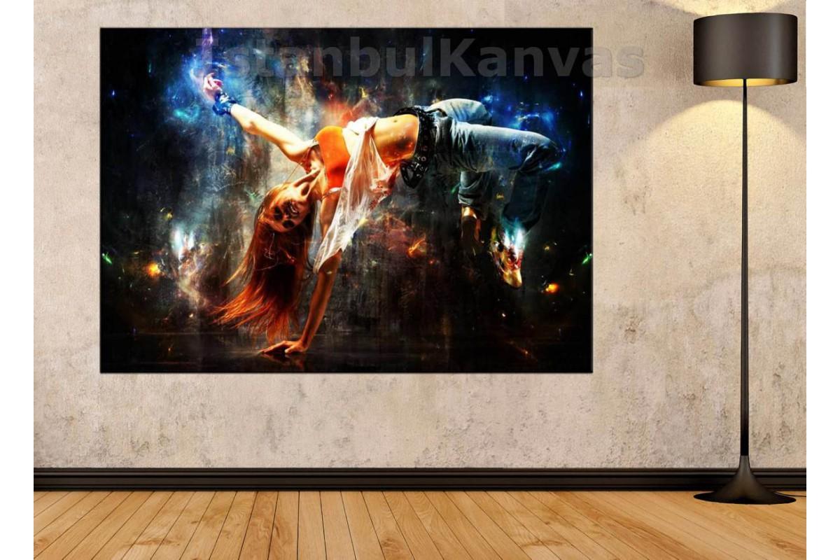 Srd14 - Modern Dansçı Kız Soyut Kanvas Tablo
