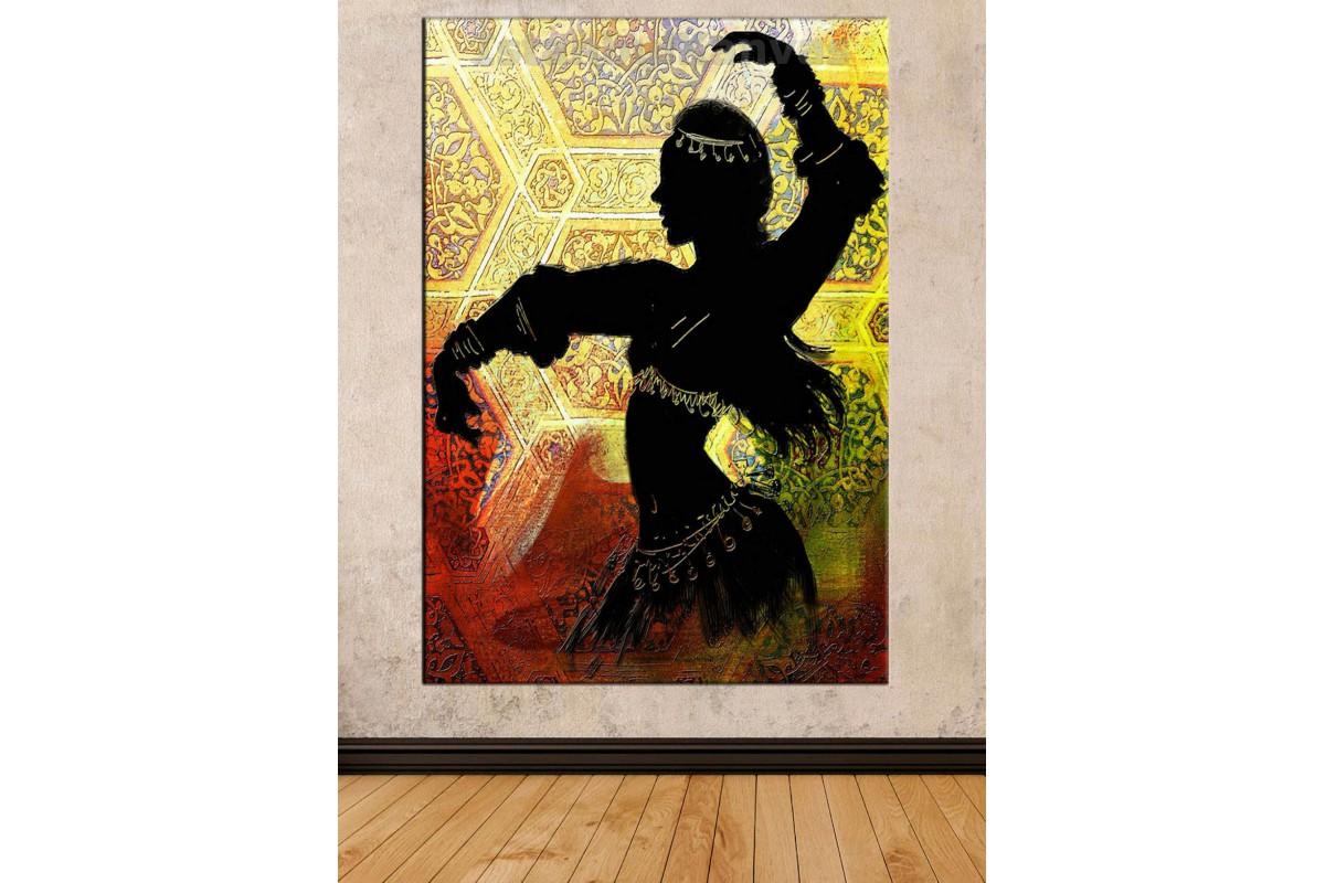 Srd15 - Oryantal Dansçı Kız Dekoratif Kanvas Tablo