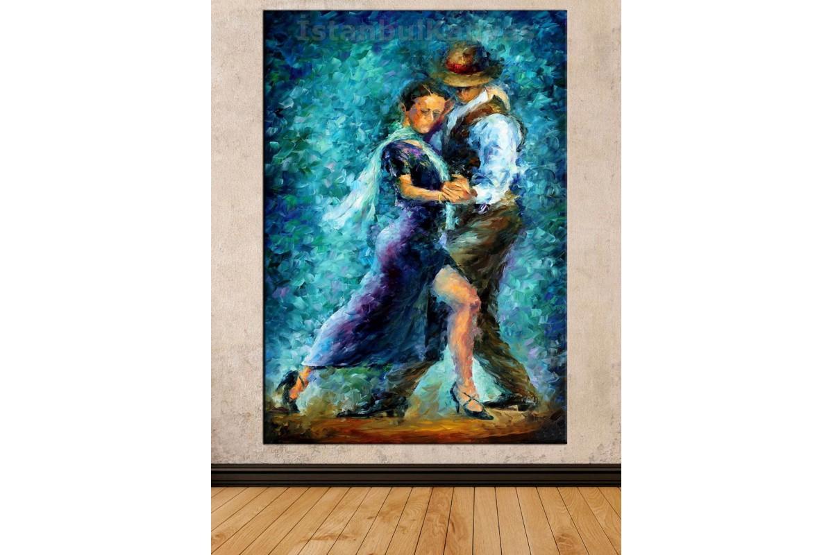 Srd3 - Yağlı Boya Görünümlü Tango Yapan Çift - Dans - Soyut Kanvas Tablo
