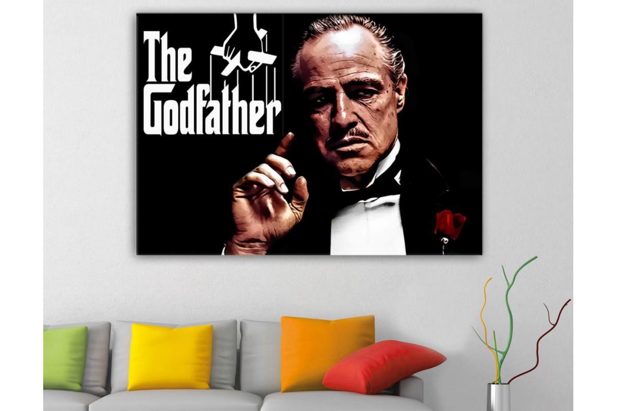 srgf1 - The Godfather - Kült Film - Baba Filmi Don Carleone Kanvas tablo