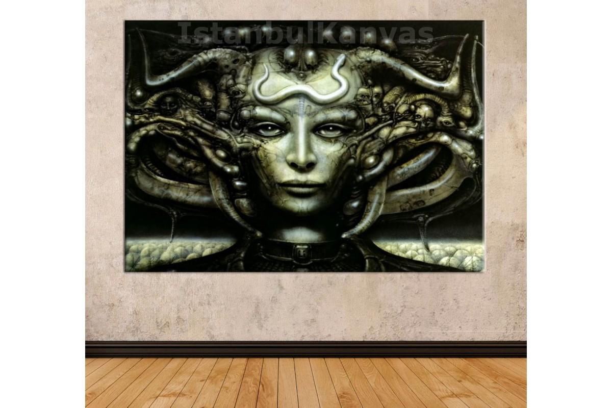 Srhg1b - Alien'ın Yaratıcısı H.R.Giger - Li I Kanvas, Alien Kraliçesi Tablo