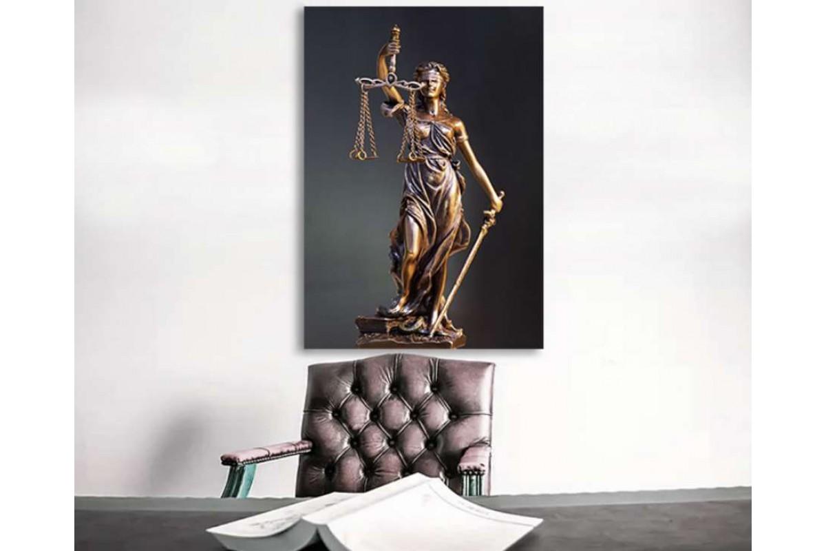 srhk2 - Hukuk Bürosu, Avukatlık Bürosu Adalet Tanrıçası Themis Kanvas Tablo