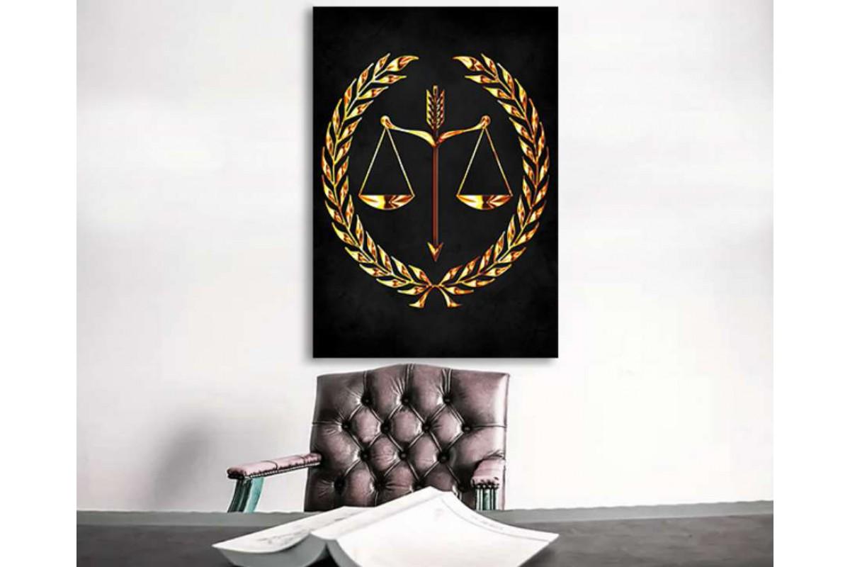 srhk3 - Hukuk Bürosu, Avukatlık Bürosu Özel Tasarım Kanvas Tablo