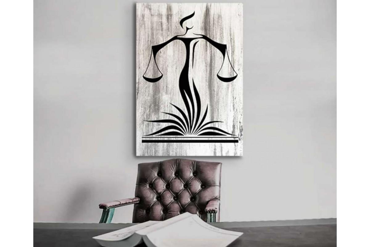 srhk4 - Özel Tasarım Hukuk Bürosu, Avukatlık Bürosu Adalet Kanvas Tablo