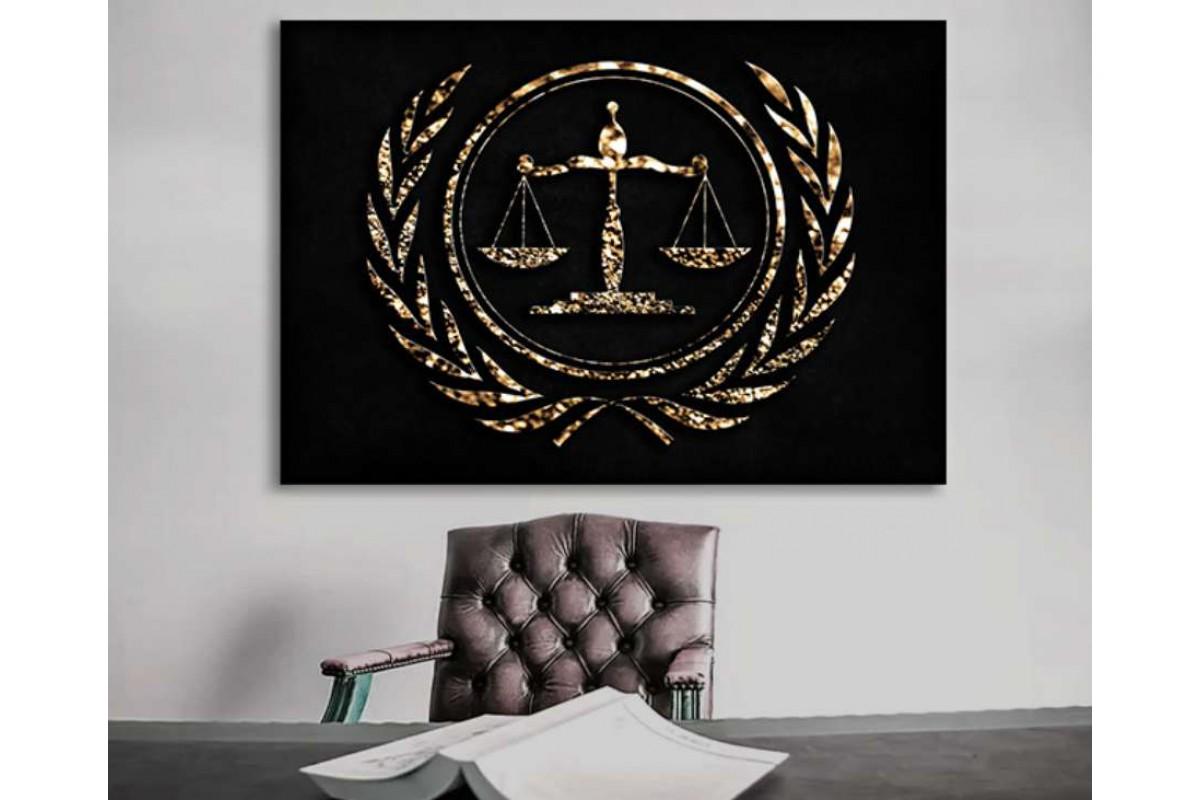 srhk6 - Hukuk Bürosu, Avukatlık Bürosu Adaletin Terazisi Kanvas Tablo