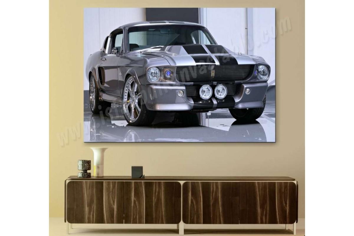 srk11 - MUSTANG SHELLBY ELEANOR GT 500 KANVAS TABLO