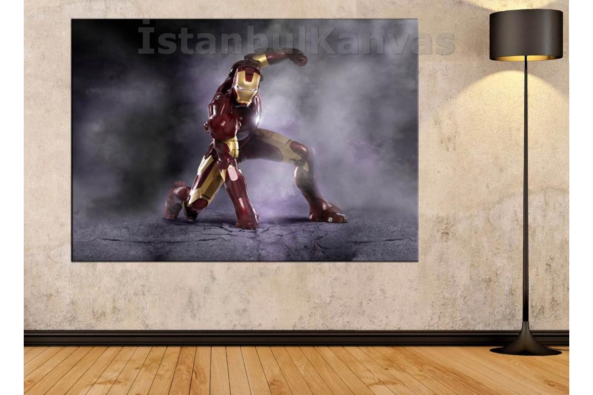 Srk14 - Iron Man - Demir Adam - Çizgi Roman - Süper Kahraman Kanvas Tablo