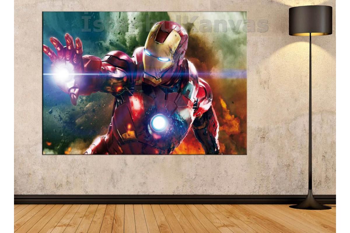 Srk14c - Demir Adam, Iron Man, Süper Kahraman, Avengers Kanvas Tablo